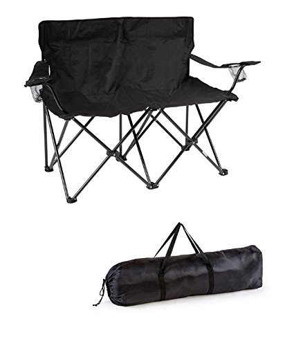 Trademark Innovations 31 5 Quot H Loveseat Style Double Camp