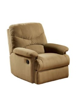 ACME Arcadia Light Brown Microfiber Recliner