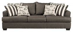 Ashley Furniture Signature Design – Levon Sleeper Sofa – Queen – Memory Foam M ...