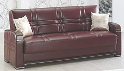 BEYAN Manhattan Collection Modern Living Room Convertible Folding Sofa Bed with Storage Space, I ...