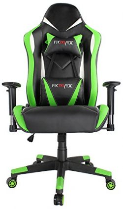 Ficmax High Back Computer Gaming Office Chair Recliner Rocker Tilt E-sports with Lumbar Massagin ...