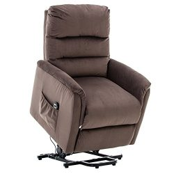 BONZY Lift Recliner Contemporary Power Lift Chair Soft and Warm Fabric with Remote Control for G ...