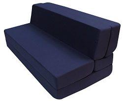 Merax Convertible 5-Folding Foam Sleeping Mattress Sofa Bed and Floor Mat, 80in x60in x5in, Navy ...