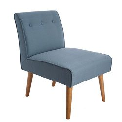 GreenForest Modern Single Sofa Accent Side Chair Fabric Armless Living Room Occasional Chair wit ...