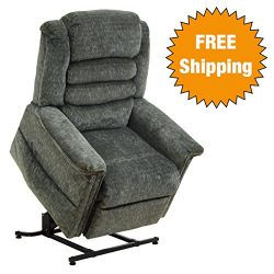 Catnapper Power Lift Full Lay-Out Recliner with Deluxe Heat & Massage – Plush Chaise S ...