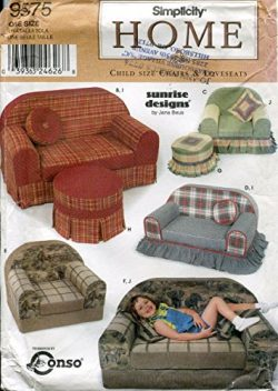 Simplicity Home Pattern 9575 Sunrise Designs Child Size Chairs and Loveseats