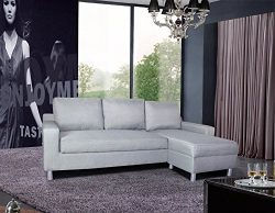 US Pride Furniture Kachy Fabric Convertible Sleeper Sectional Sofa Bed & Facing-Right Chaise ...