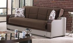 BEYAN Texas 2015 Collection Convertible Folding Sofa Bed Sleeper with Storage Space Includes 2 P ...