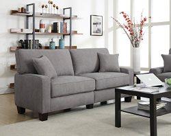 Serta RTA Palisades Collection 78″ Sofa in Glacial Gray