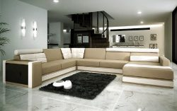 Modern Italian Design Leather Sectional Sofa