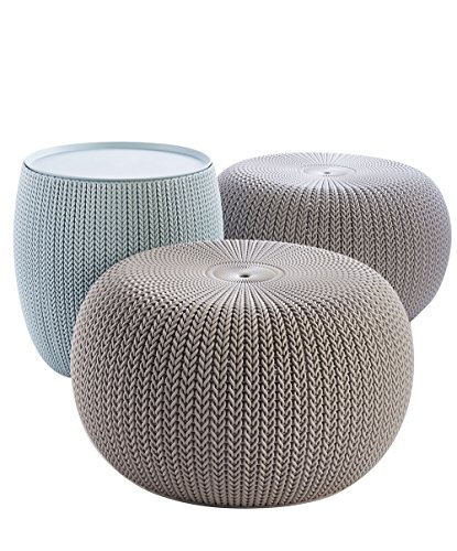 Keter 3 Piece Cozy Urban Knit Furniture Set Compact