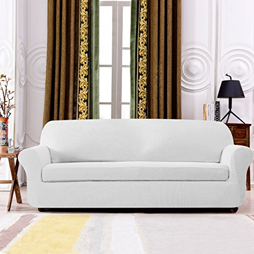 Subrtex Spandex Stretch 2 Piece Slipcovers Loveseat Off
