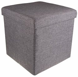 Gray Footrest Ottoman by Clever Creations | Modern Accent Piece with Storage | Premium Materials ...