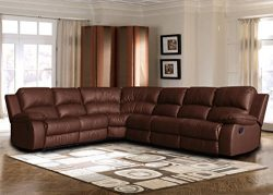 Large Classic Sofa – Sectional – Traditional – Bonded Leather