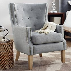 Dorel Living DA7900-GR Otto, Accent Chair, Gray