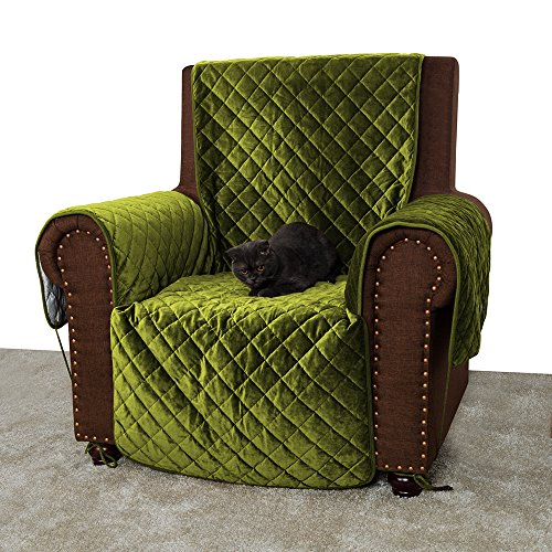 Furry Buddy Quilted Velvet Pet Recliner Cover Water