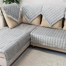 OstepDecor Multi-size Pet Dog Couch Rectangular Winter Quilted Furniture Protectors Covers for S ...