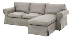 The Dense Cotton Ektorp Loveseat ( 2 seater) With Chaise Lounge Cover Replacement Is Custom Made ...