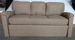 Patrick Industries RV 72″ Jack Knife Sleeper Sofa Bed Couch w/ Arms (Tan)