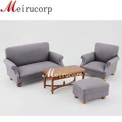 Fine 1:12 scale dollhouse miniature furniture Living room set Sofa table