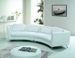 Modern Line Furniture 8004W Contemporary Leather Curved Sectional Sofa for Restaurant/Bar/Nightc ...