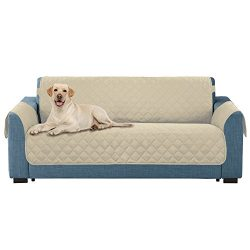 E-Living Store Loveseat/Couch Protector, Reversible with Elastic Strap to hold in Place –  ...