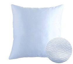 Cold Light Blue Decorative Textured Satin Cushion Cover Throw Square Pillowcase for Chair Sofa L ...