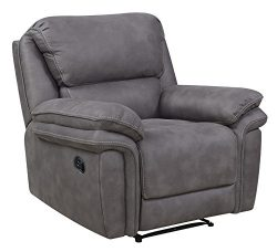 Bradford Living KPI001006 Atlantic Rocker, Power Recliner, Gray