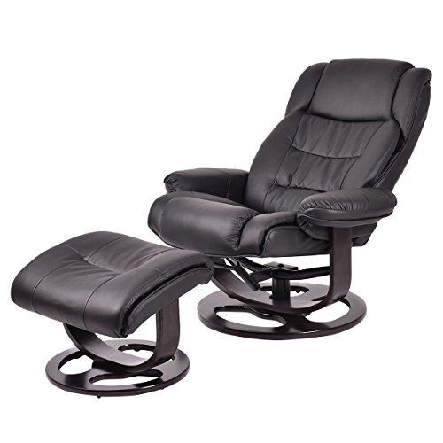 Giantex Executive Recliner Chair Swivel Leisure Pu Leather