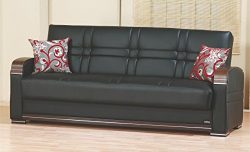 BEYAN Bronx Collection Living Room Convertible Folding Sofa Bed with Storage Space, Includes 2 P ...