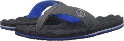 Volcom Men's Recliner Flip Flop Sandal, Blue Combo, 11 M US