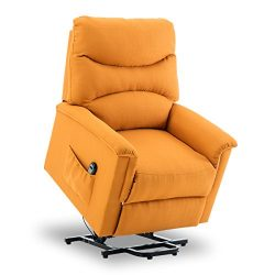 BONZY Lift Chair Power Lift Recliner Soft and Warm Fabric with Remote Control for Gentle Motor & ...