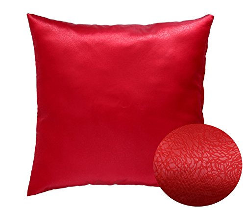 Red 18 Quot X 18 Quot Decorative Decorative Textured Satin Cushion