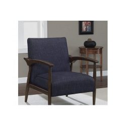Dark Blue Indigo Retro Arm Fabric Accent Chair Perfect for Home or Office Furniture Instantly Up ...