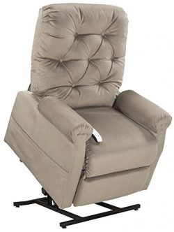 Mega Motion Lift Chair Easy Comfort Recliner LC-200 3 Position Rising Electric Power Chaise Loun ...