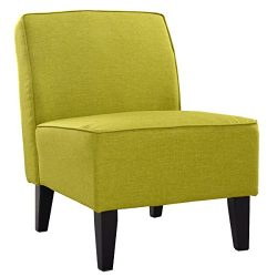 Giantex Deco Solids Accent Chair Armless Living Room Bedroom Office Contemporary (lime Green)