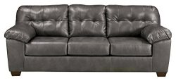 Signature Design by Ashley Alliston DuraBlend Sleeper Sofa, Queen, Gray