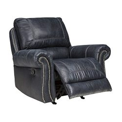 Ashley Furniture Signature Design – Milhaven Faux Leather Upholstered Power Rocker Recline ...