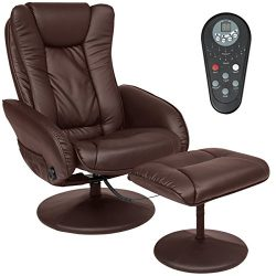 Best Choice Products PU Leather Massage Recliner Ottoman w/ Control, 5 Heat & Massage Modes, ...