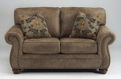 Ashley Furniture Signature Design – Larkinhurst Traditional Loveseat – Faux Weathere ...