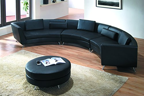 Modern Line Furniture 8004B-G5 Contemporary Leather Curved