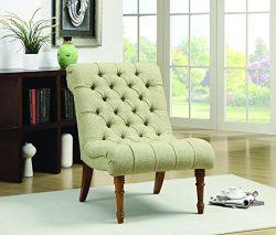 Coaster Home Furnishings Casual Accent Chair, Light Brown/Yellow Green