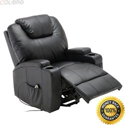 COLIBROX–Electric Lift Power Recliner Chair Heated Massage Sofa Lounge w/ Remote Control.  ...