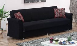 BEYAN Ohio Collection Convertible Folding Sofa Bed Sleeper with Storage Space, Includes 2 Pillow ...
