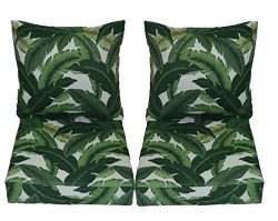 Tommy Bahama Swaying Palms – Aloe – Green Tropical Palm Leaf Cushions for Patio Outd ...