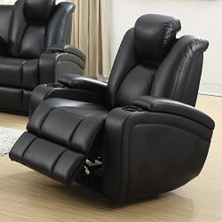 Coaster Home Furnishings  Delange Modern Power Motion One Seater Recliner with Power Headrest St ...