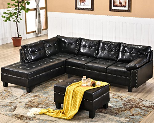 Harper & Bright Designs Sectional Sofa Set with Chaise Lounge and