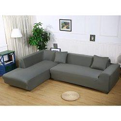 JIAN YA NA Stretch Sofa Covers Polyester Spandex Fabric Slipcover 2pcs Polyester Fabric Stretch  ...