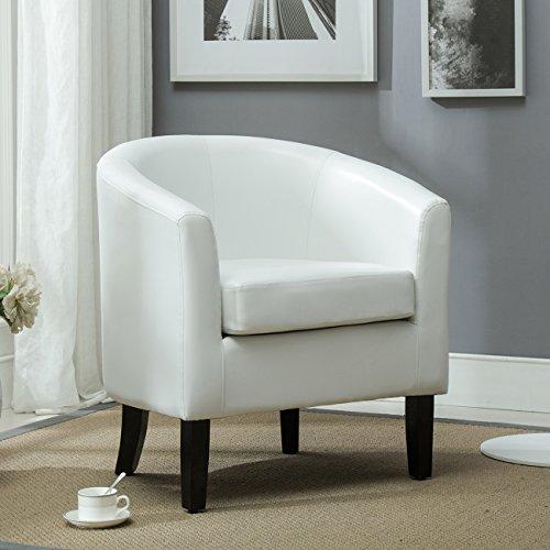 Belleze Club Chair Tub Faux Leather Armchair Seat Accent