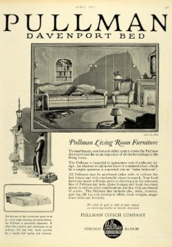 1925 Ad Pullman Davenport Bed Living Room Furniture Suite No. 4916 Sleeper Sofa – Original ...